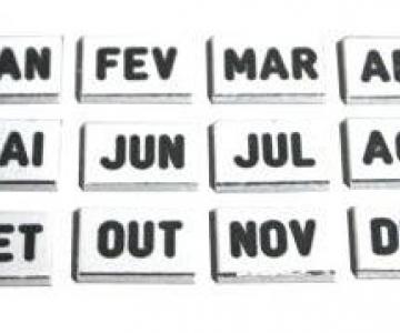 Dísticos 6mm (jogo) - meses do ano