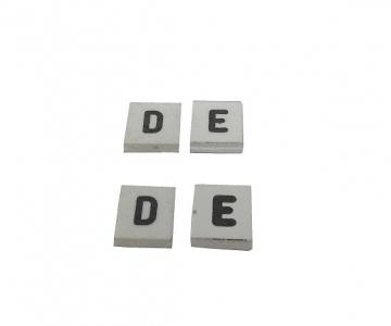 Dístico especial por letra - 10mm