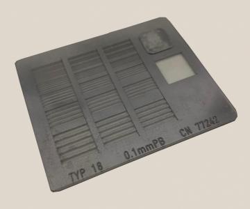 Disp. padrão de resolução barras modelo 18 (ftfl)