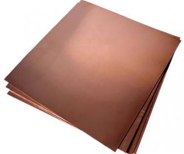 Lâminas de cobre 100x100mm espessuras diversas
