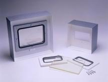 Moldura 30x30cm com vidro 150 x 200 x 8mm 2.0mmpb