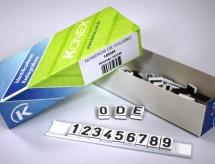 Números de chumbo de 10mm
